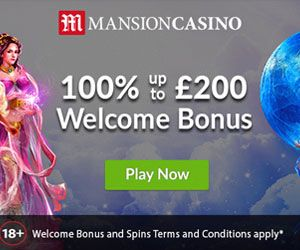 Latest bonus from Mansion Casino